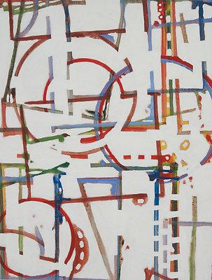 This Interesting Path 20X26 acrylic on canvas 2011