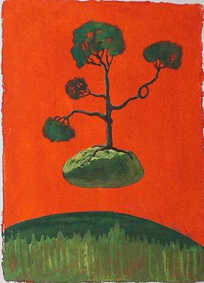 "'Red, Rock,Tree'* 6""x8"""