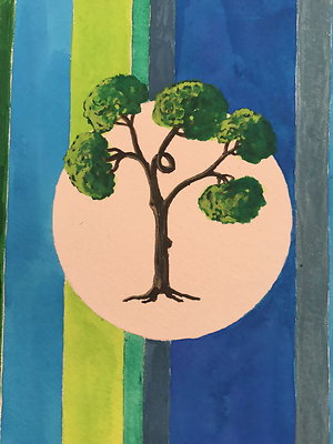 """'Climbing Tree' 9""""x11"""""""
